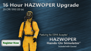16 Hour HAZWOPER Upgrade Course Thumbnail