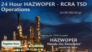 24 Hour HAZWOPER RCRA TSD Operations Course Thumbnail