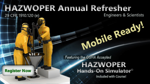 HAZWOPER Annual Refresher for Engineers and Scientists Course Thumbnail