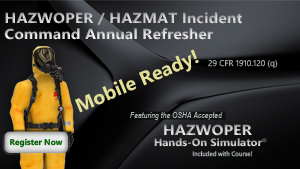 HAZWOPER Incident Command Annual Refresher Course Thumbnail