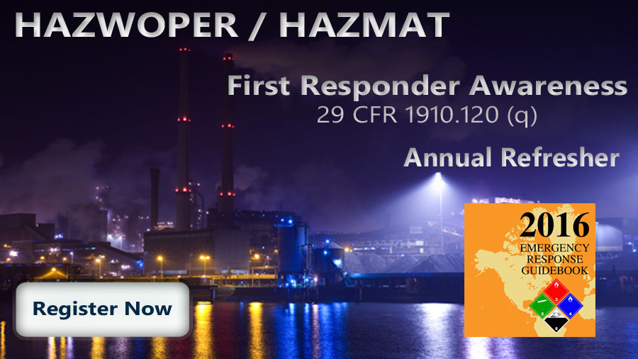 HAZWOPER First Responder Awareness Refresher Course Thumbnail