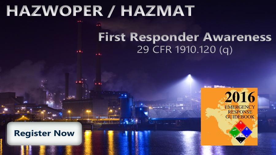 HAZWOPER First Responder Awareness Course Thumbnail