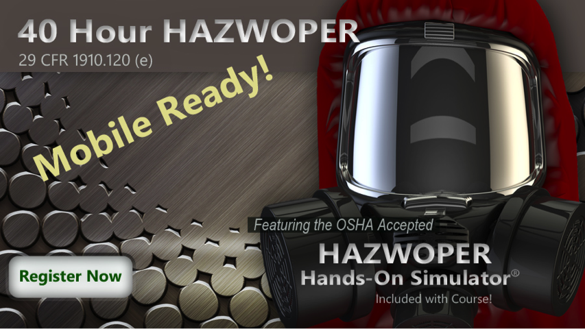 a mobile ready hands on Hazwoper simulator is available