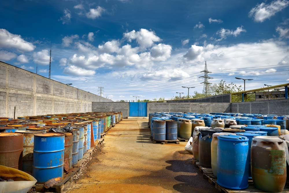 drums of RCRA hazardous waste