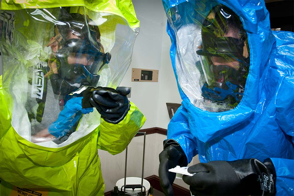 hazwoper workers following OSHA hazardous substances guidelines