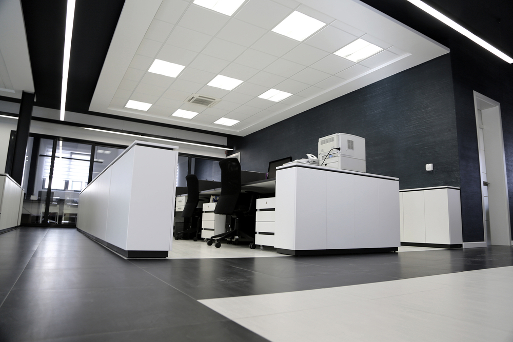 White and Black Modern Office